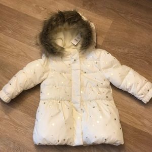 BNWT Babygap star puffer hoodie coat, 3T